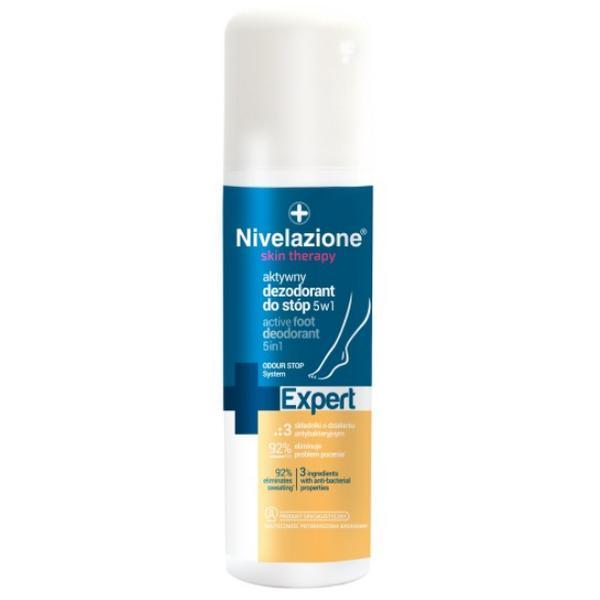 Deodorant Activ 5 in 1 pentru Picioare - Farmona Nivelazione Skin Therapy Expert Active Foot Deodorant 5 in 1, 150ml imagine produs