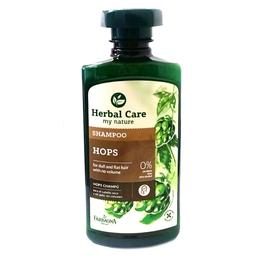 Sampon cu Extract de Hamei pentru Volum - Farmona Herbal Care Hops Shampoo for Dull and Flat Hair with No Volume, 330ml