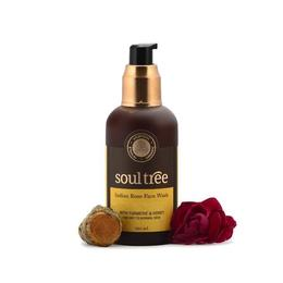 Gel curatare ten cu trandafir, turmeric, miere - Soultree, 120 ml