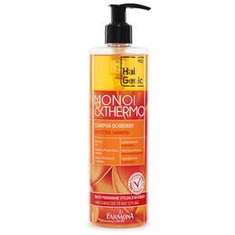 Sampon pentru Protectie Termica - Farmona Hair Genic Monoi & Thermo Protective Shampoo for Hair Subjected to Hot Styling, 400ml