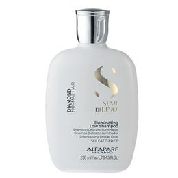 Sampon de Stralucire pentru Par Normal - Alfaparf Milano Semi Di Lino Diamond Illuminating Low Shampoo, 250ml