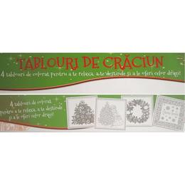 Tablouri de Craciun - 4 tablouri de colorat, editura Didactica Publishing House