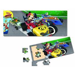 Puzzle din lemn, 21 piese - Mickey si pilotii de curse