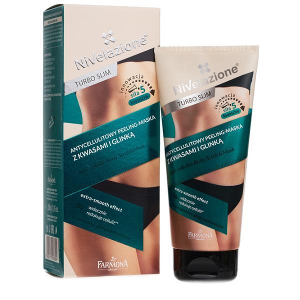 Exfoliant si Masca cu Acizi si Argila - Farmona Nivelazione Turbo Slim Anti-Cellulite Body Scrub & Mask, 200ml imagine produs