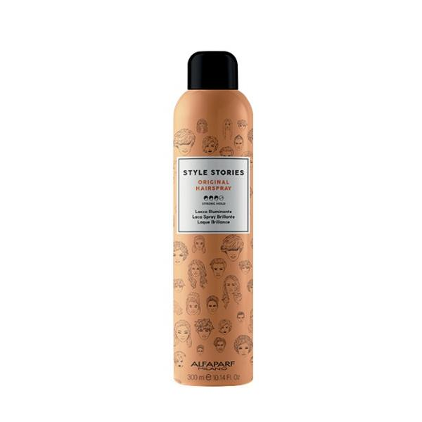 Spray Fixativ pentru Stralucire cu Fixare Puternica - Alfaparf Milano Style Stories Original Hairspray, 300ml poza
