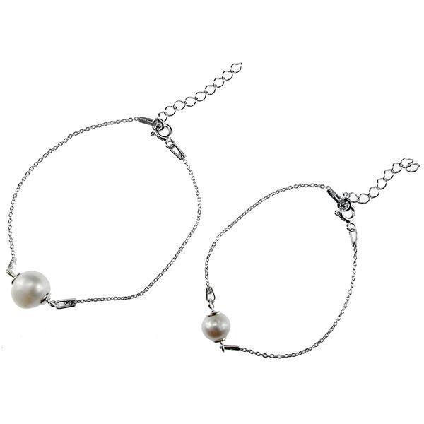 Set 2 bratari mama-fiica argint cu perle naturale