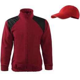 Jacheta Adler - rosu marlboro din fleece marimea L + sapca