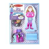 Fun fashions, magnetic dress-up doll. Joc magnetic de imbracat, Fetitele