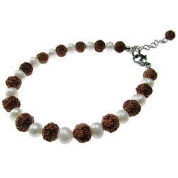 Bratara Rudraksha cu perle naturale