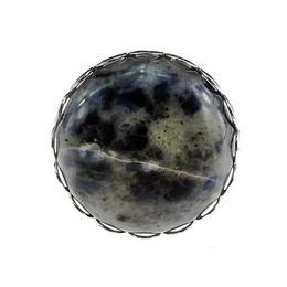 Inel reglabil argintata cu sodalit, GlamBazaar