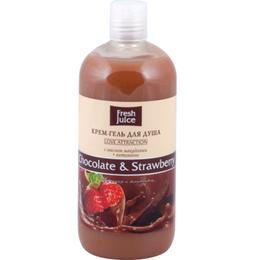 Gel de Dus Cremos cu Ciocolata si Extract de Capsuni Fresh Juice, 500ml
