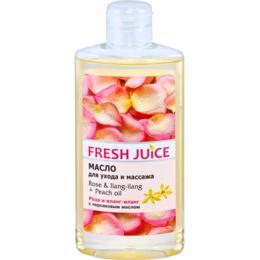 Ulei de Corp cu Trandafir, Ylang Ylang si Ulei de Piersica Fresh Juice, 150ml
