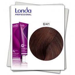 Vopsea Permanenta - Londa Professional nuanta 6/41 blond inchis cupru cenusiu