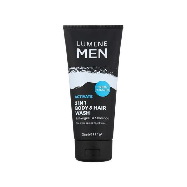 Sampon Hair & Body wash Lumene MEN, 200 ml imagine
