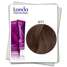 Vopsea Permanenta - Londa Professional nuanta 6/71 blond inchis maro cenusiu