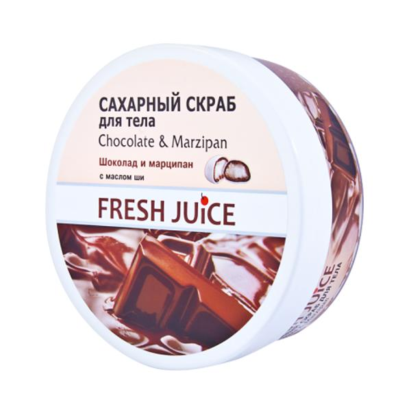 Exfoliant de Corp Ciocolata si Martipan Fresh Juice, 225ml imagine produs