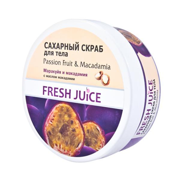Exfoliant de Corp Fructul Pasiunii si Macadamia Fresh Juice, 225ml imagine produs