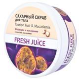 Exfoliant de Corp Fructul Pasiunii si Macadamia Fresh Juice, 225ml