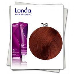 Vopsea Permanenta - Londa Professional nuanta 7/43 blond mediu cupru auriu