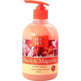 Sapun Lichid Cremos cu Ulei de Piersica si Extract de Magnolie Fresh Juice, 460ml