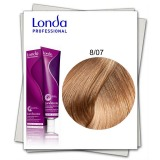 Vopsea Permanenta - Londa Professional nuanta 8/07 blond deschis natural castaniu