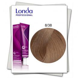 Vopsea Permanenta - Londa Professional nuanta 8/38 blond deschis auriu perlat