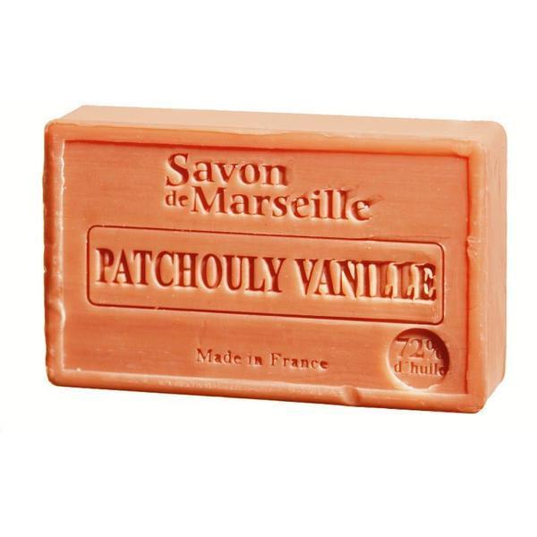 Sapun Natural de Marsilia 100g Patchouly Vanille Paciuli Vanilie Le Chatelard 1802 poza