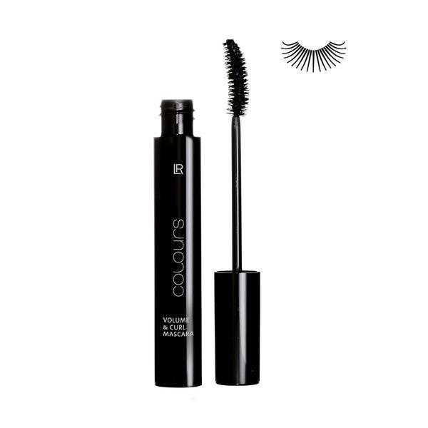 Rimel Mascara pt volum & gene intoarse Absolute Black - LR Colours, 10 ml imagine produs