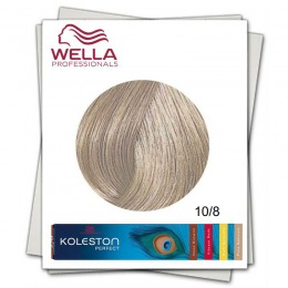 Vopsea Permanenta - Wella Professionals Koleston Perfect nuanta 10/8 blond luminos deschis albastrui
