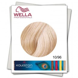 Vopsea Permanenta - Wella Professionals Koleston Perfect nuanta 10/96 blond luminos deschis perlat violet