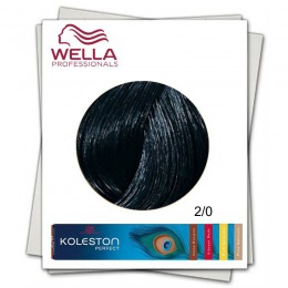 Vopsea Permanenta - Wella Professionals Koleston Perfect nuanta 2/0 negru