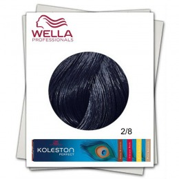 Vopsea Permanenta - Wella Professionals Koleston Perfect nuanta 2/8 negru albastrui