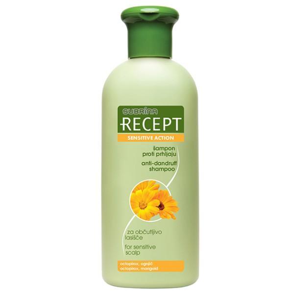 Sampon Antimatreata pentru Scalp Sensibil - Subrina Recept Sensitive Action Anti-Dandruff Shampoo for Sensitive Scalp, 400ml imagine