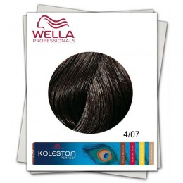 Vopsea Permanenta - Wella Professionals Koleston Perfect nuanta 4/07 castaniu mediu castaniu natural