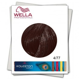 Vopsea Permanenta - Wella Professionals Koleston Perfect nuanta 4/77 castaniu mediu castaniu intens