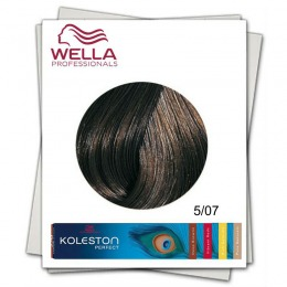 Vopsea Permanenta - Wella Professionals Koleston Perfect nuanta 5/07 castaniu deschis castaniu natural