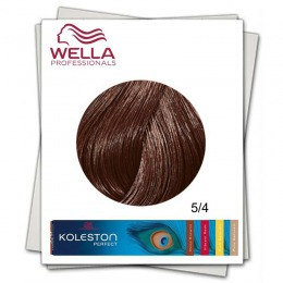 Vopsea Permanenta - Wella Professionals Koleston Perfect nuanta 5/4 castaniu deschis roscat