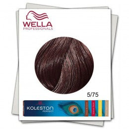 Vopsea Permanenta - Wella Professionals Koleston Perfect nuanta 5/75 castaniu deschis maro mahon