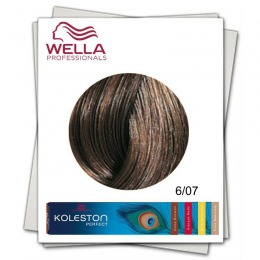 Vopsea Permanenta - Wella Professionals Koleston Perfect nuanta 6/07 blond inchis castaniu natural