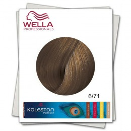 Vopsea Permanenta - Wella Professionals Koleston Perfect nuanta 6/71 blond inchis maro cenusiu