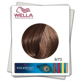 Vopsea Permanenta - Wella Professionals Koleston Perfect nuanta 6/73 blond inchis maro auriu