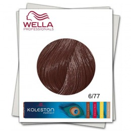 Vopsea Permanenta - Wella Professionals Koleston Perfect nuanta 6/77 blond inchis castaniu intens