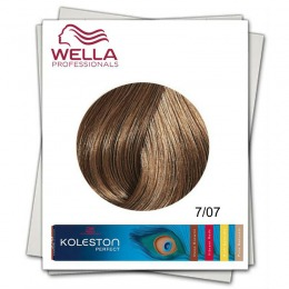 Vopsea Permanenta - Wella Professionals Koleston Perfect nuanta 7/07 blond mediu castaniu natural