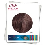 Vopsea Permanenta - Wella Professionals Koleston Perfect nuanta 7/4 blond mediu roscat