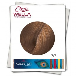 Vopsea Permanenta - Wella Professionals Koleston Perfect nuanta 7/7 blond mediu castaniu