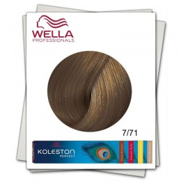 Vopsea Permanenta - Wella Professionals Koleston Perfect nuanta 7/71 blond mediu maro cenusiu