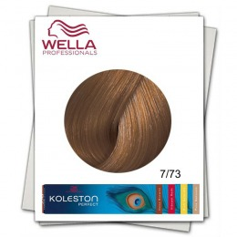 Vopsea Permanenta - Wella Professionals Koleston Perfect nuanta 7/73 blond mediu maro auriu