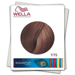 Vopsea Permanenta - Wella Professionals Koleston Perfect nuanta 7/75 blond mediu maro mahon