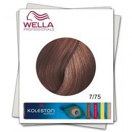Vopsea Permanenta - Wella Professionals Koleston Perfect nuanta 7/75 blond mediu maro mahon