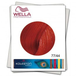 Vopsea Permanenta - Wella Professionals Koleston Perfect nuanta 77/44 blond mediu intens rosu intens